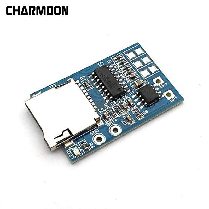 TF Card MP3 Decoder Board 2W Power Module  Mixed Mono Playback With Memory SP