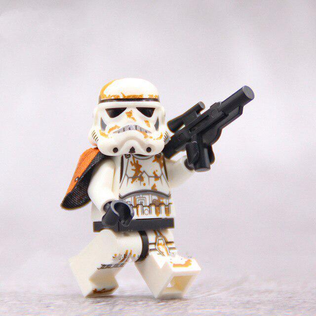 8pcs//Set Minifigures Star Wars Han Solo Luke Palpatine Obi-wan Blocks Toy