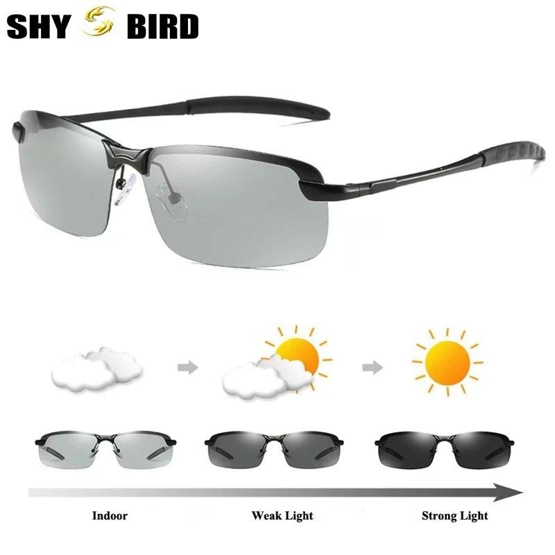 9996bd3e7a675a SHY BIRD Brand Photochromic Sunglasses Men Polarized Discoloration Eyewear  Anti Glare HD Goggles-buy at a low prices on Joom e-commerce platform