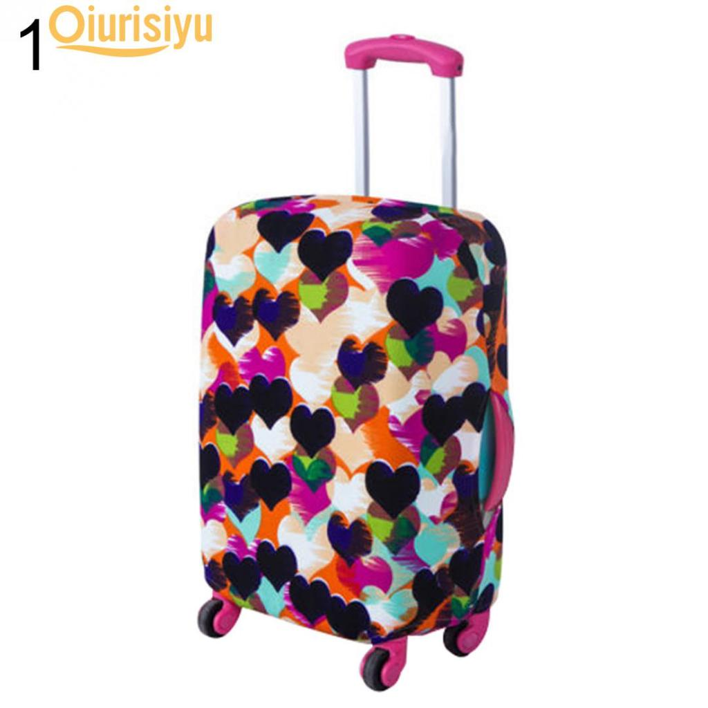 3D Pink Wave Print Luggage Protector Travel Luggage Cover Trolley Case Protective Cover Fits 18-32 Inch