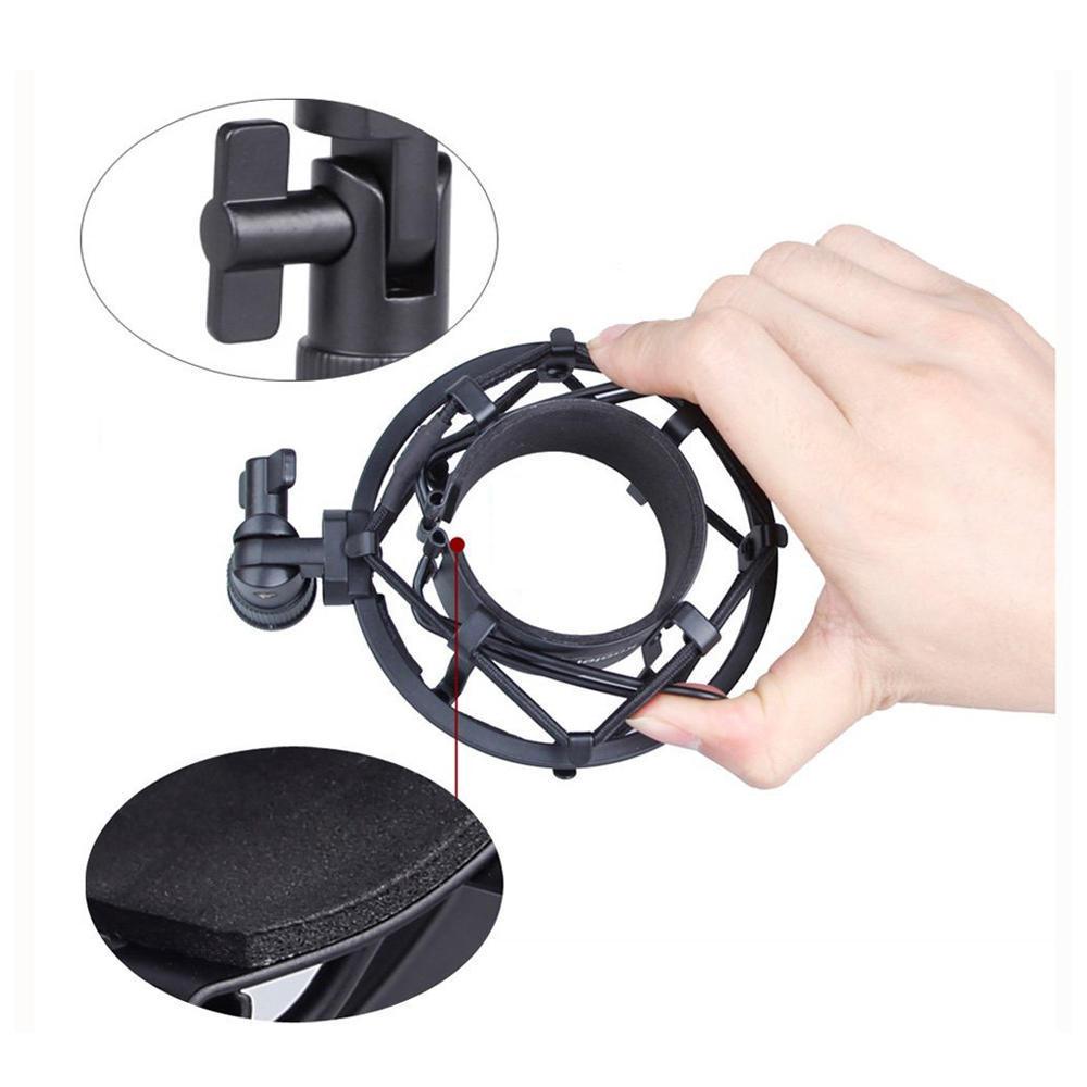Heimelektronik Zubehör Universal 50mm Mikrofon Shock Mount Für 48mm-54mm Durchmesser Kondensator Mic Mikrofonstativ