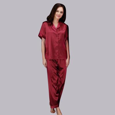 e3952a6ecd3e0 Женщины шелковые пижамы льда плащ кардиган модница задать короткий рукав,  который из двух частей