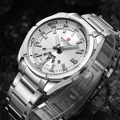 Business Casual Fashion Waterproof Full Steel Quartz Watches for Men