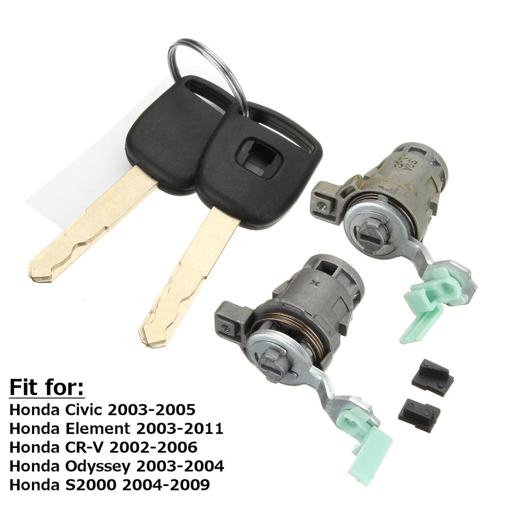 Front Left /& Right Door Lock Cylinder Keys For Honda S2000 Accord Civic Odyssey