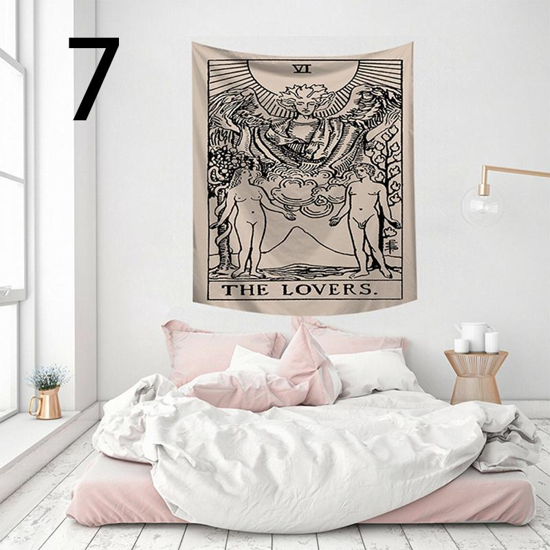 The Moon Tapestry Pond Lotus Leaf Crayfish Tapestry Tarot Tapestry Medieval Europe Divination Tapestry Mysterious Tapestries for Room