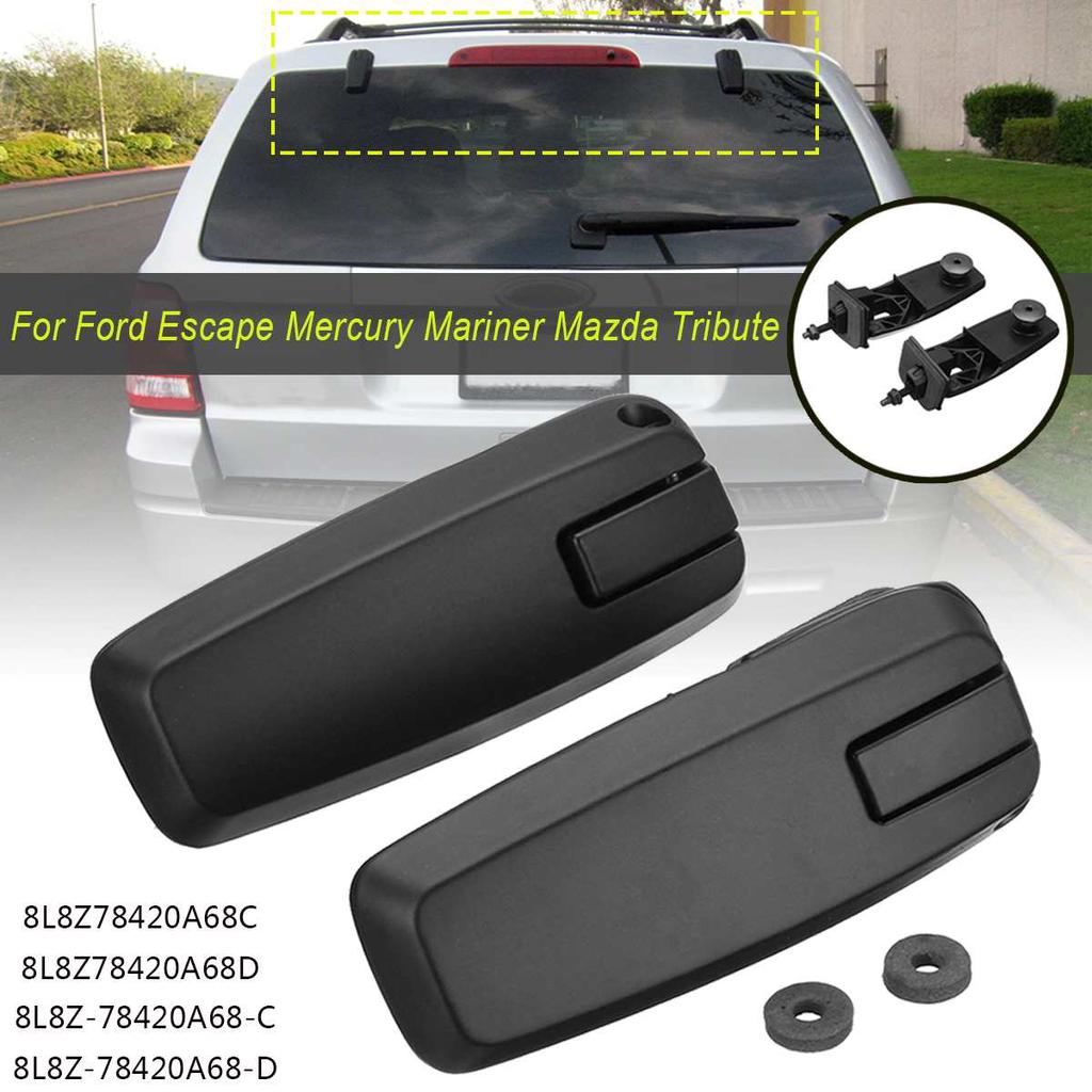 New 2x Rear Liftgate Glass Window Hinge Left & Right For 08-12 Ford Escape Mercury Mariner Mazda Tribute 8L8Z78420A68C 8L8Z78420A68D 8L8Z-78420A68-C 8L8Z-78420A68-D