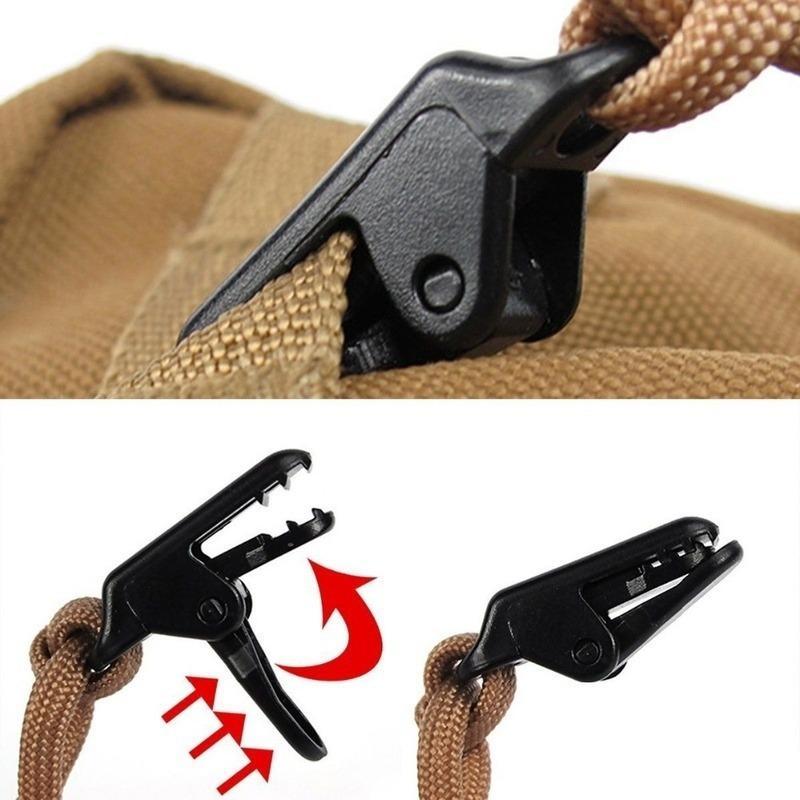 Jaw Grip Camping Tent Holder canvas Tighten tool Alligator Clip Hook Tarp Clips