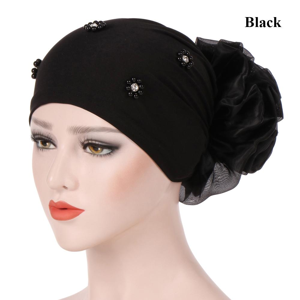 8b052d8c8d2 Beading Hijab Big Flower Hair Loss Cancer Chemo Hat Turban Cap Head Scarf-buy  at a low prices on Joom e-commerce platform