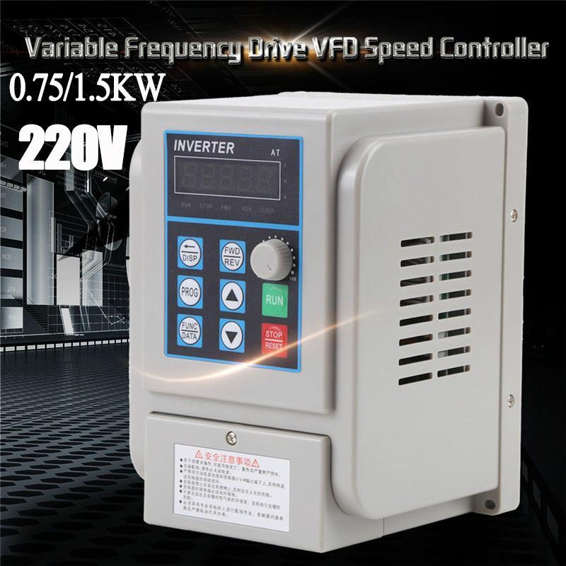 AC 220V 1.5KW Variateur de Fr/équence VFD avec Affichage LED pour Moteur Triphas/é