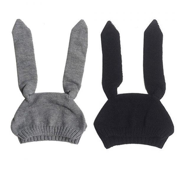 Orejas de conejo precioso tejido otoño invierno caliente orejeras ...