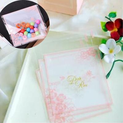 Plastic Resealable Bags Plum Blossom And Bow Self-Adhesive About 100pcs