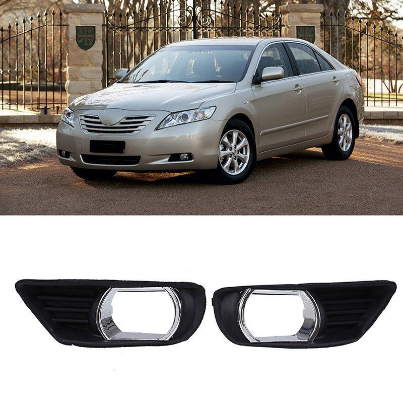 2x For Toyota Camry 2007-2009 Front Bumper Lower Fog Light Trim Bezel Cover