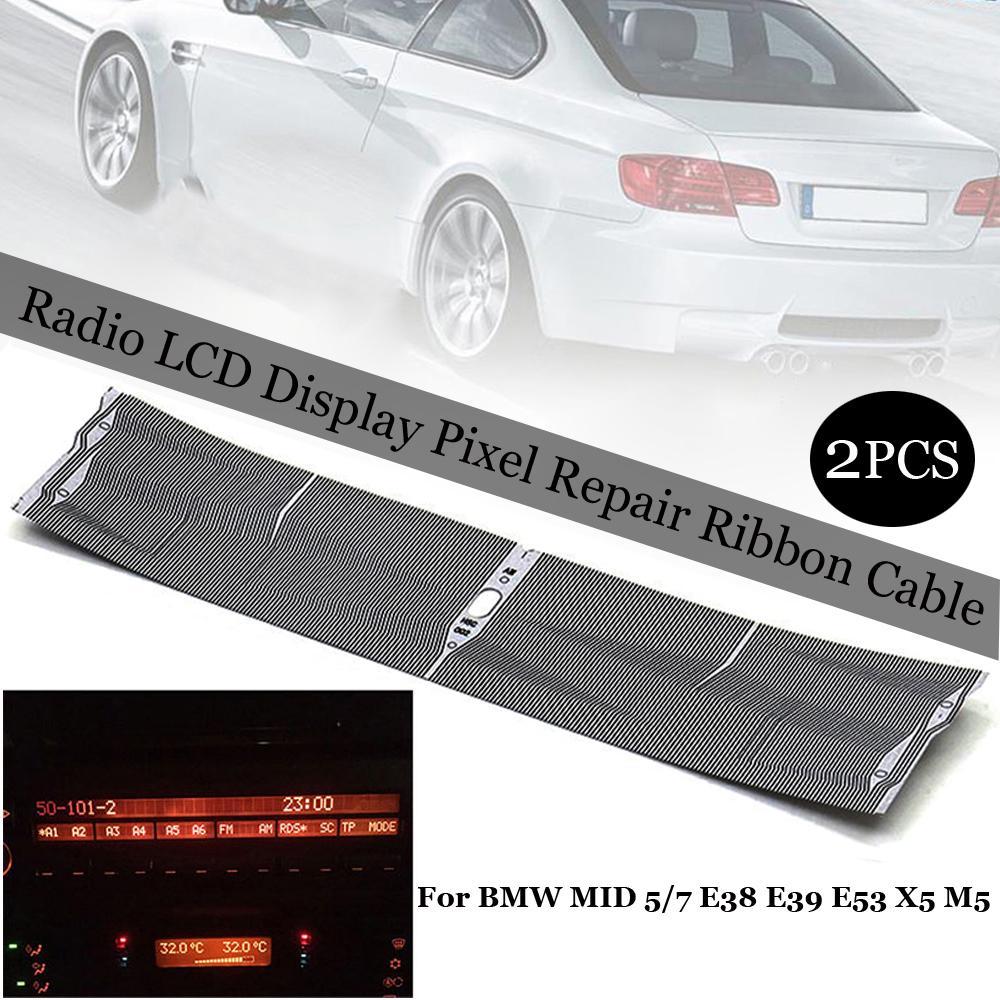 For BMW 5 Series E39 X5 E53 2 Din Stereo Board Dash Trim Kit Cover Radio Fascia