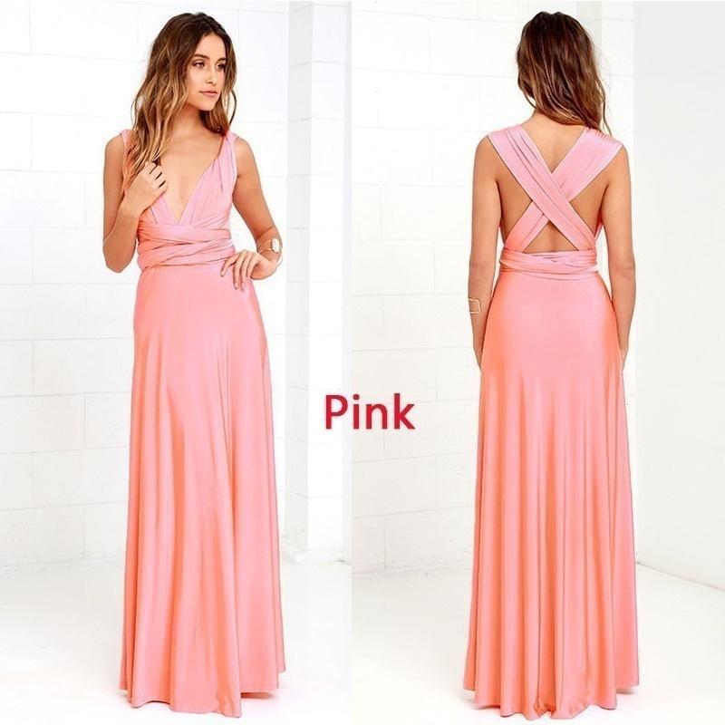 24 colores de Multiway mujeres moda Maxi vestido largo boda damas de ...