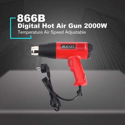 2000W LCD Digital Air Chaud Pistolet Thermor/étractable Wrap Paint Stripper Outil de bricolage