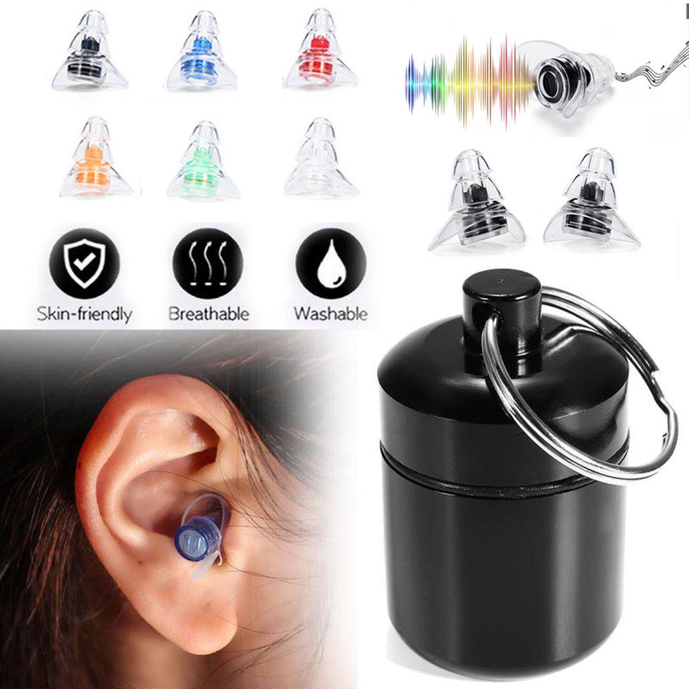Ear Plugs in Carry Box Soft Silicone Ear Protection Reusable Anti Noise