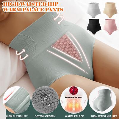 High-waisted Abdomen Graphene Panties Ladies Postpartum Body Shaping Hip-lifting Antibacterial Cotton Panties