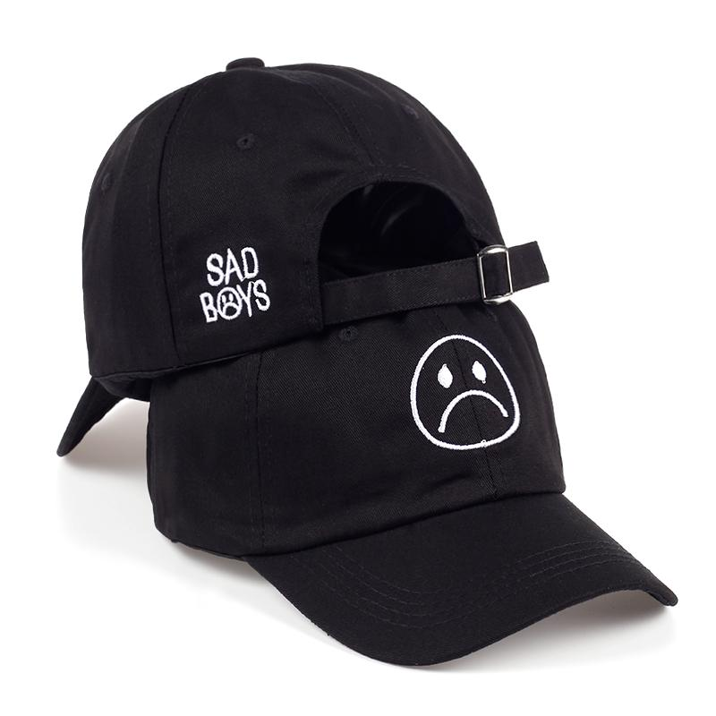 2bec68bcc9eaa Sad Boys Adjustable Hat crying face Baseball cap Hip hop Skateboard Hats  Curve Brimmed golf Caps-buy at a low prices on Joom e-commerce platform