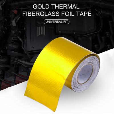 Reflect A Gold Thermal Tape Air Intake Heat Insulation Shield Wrap Reflective EL