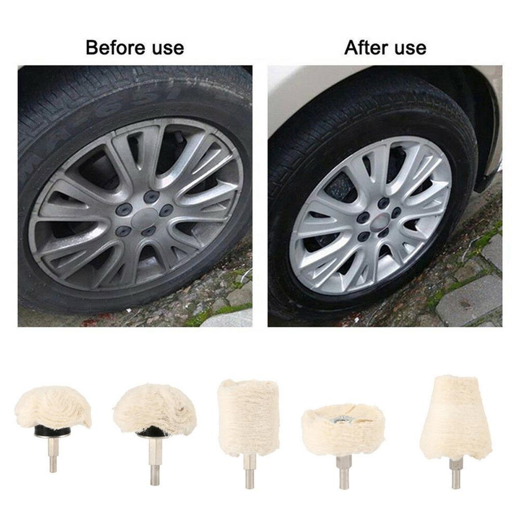 9pcs//Set Auto Car Waxing Polishing Pads Grinders Painting Wheels For M10 Drill