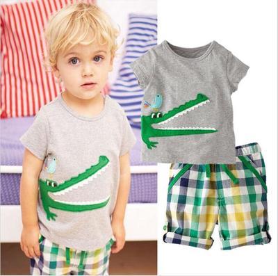 0c988abc9c89 Toddler Kids Boy Clothes Short Sleeve Tops T-shirt Pants Summer Outfits  2Pcs Set