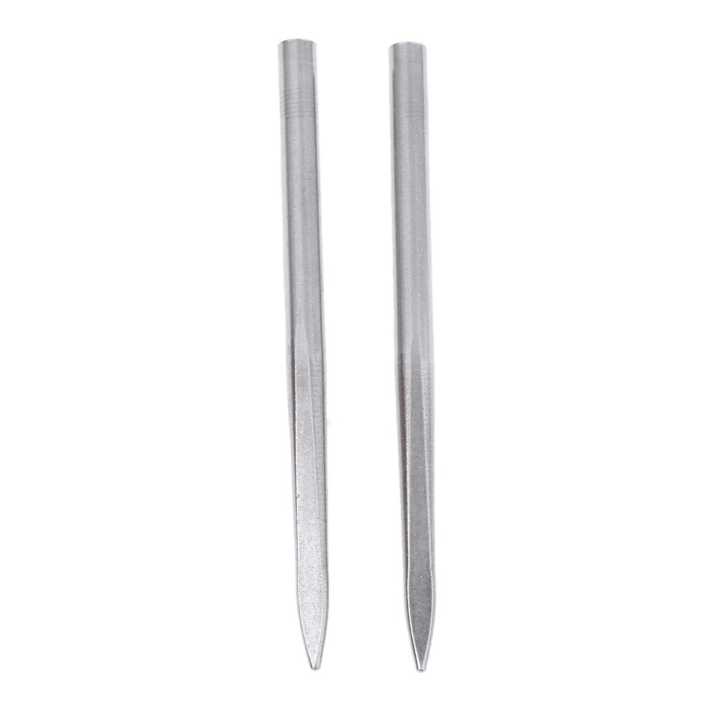 2pcs Paracord Lacing Stitching Needles Stainless Steel Paracord Braiding 3mm