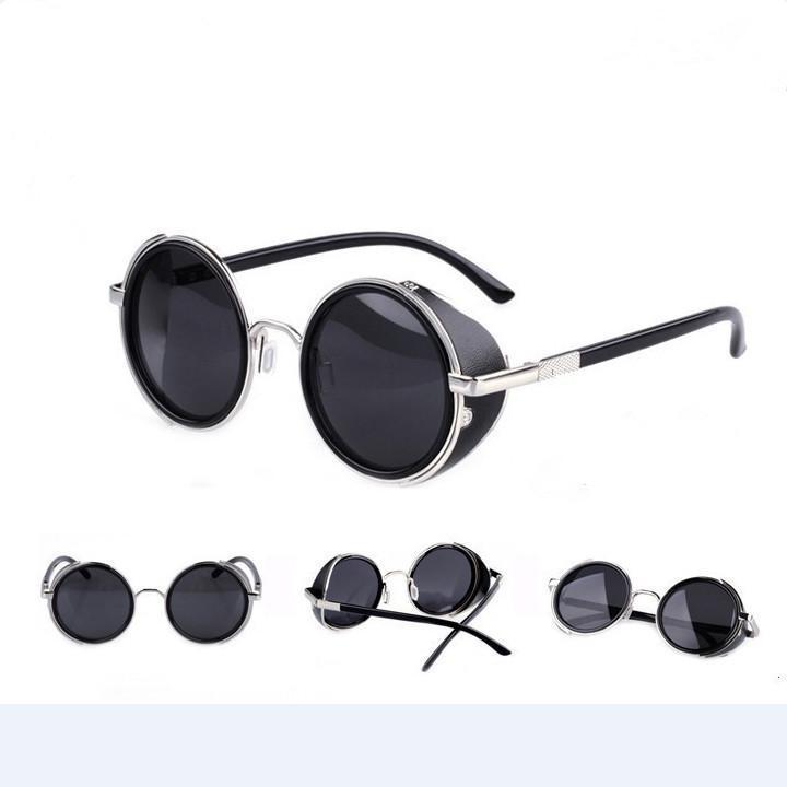 d71c22cfe0 Hombres de las mujeres alrededor de vapor diseño Punk Metal gafas de sol  Retro círculo sol gafas regalos - comprar a precios bajos en la tienda en  línea ...
