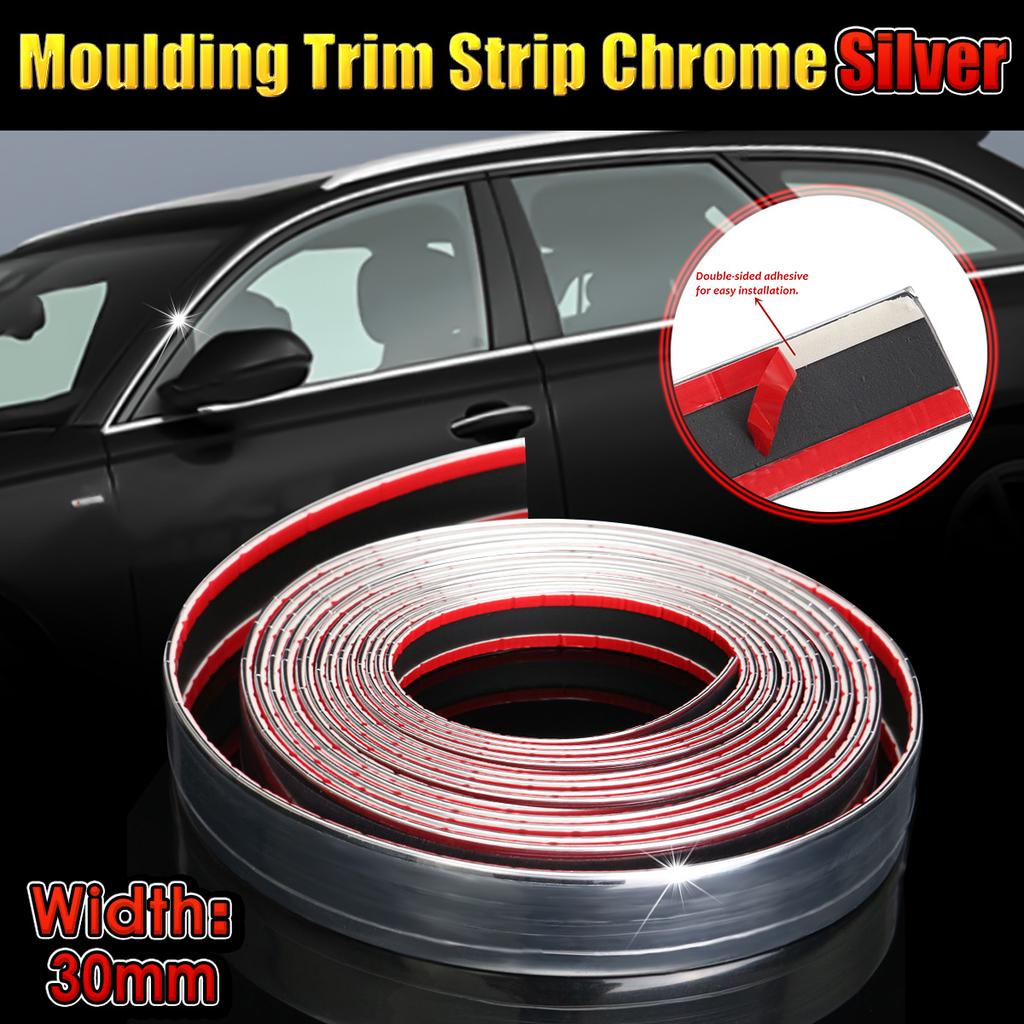 2.5M Chrome Car Adhesive Strip Trim Molding Styling Decor Exterior Accessories