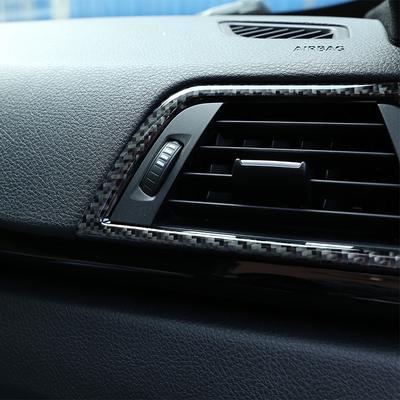 Central Control Panel Trim Cover 3pcs Carbon Fiber Center Control Strip Trim Red Fits for Range Rover Sport 2014-2019