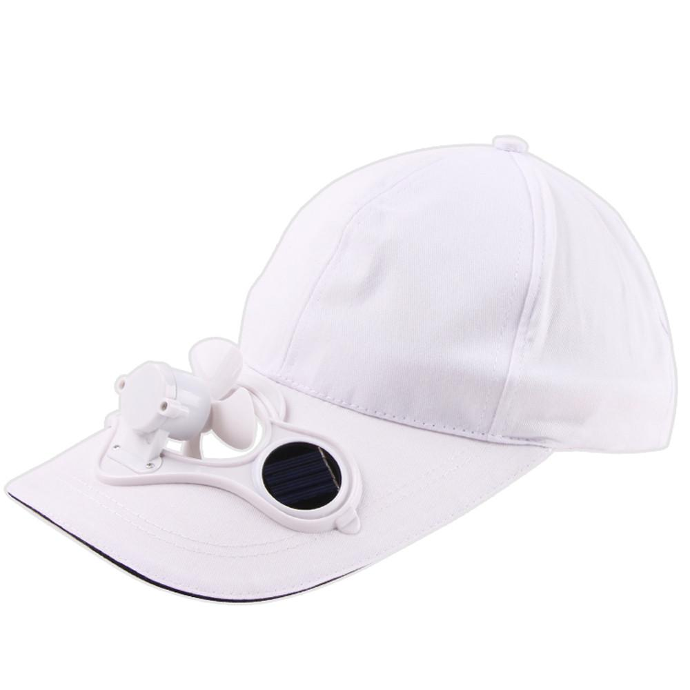 Men Women Solid Solar Power Sun Protection Outdoor Baseball Hat With Cooling Fan