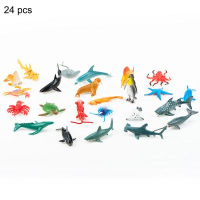 Sea Creatures Sea Animal Models Toys Dolphin Home Decor 24Pcs//Set Durable