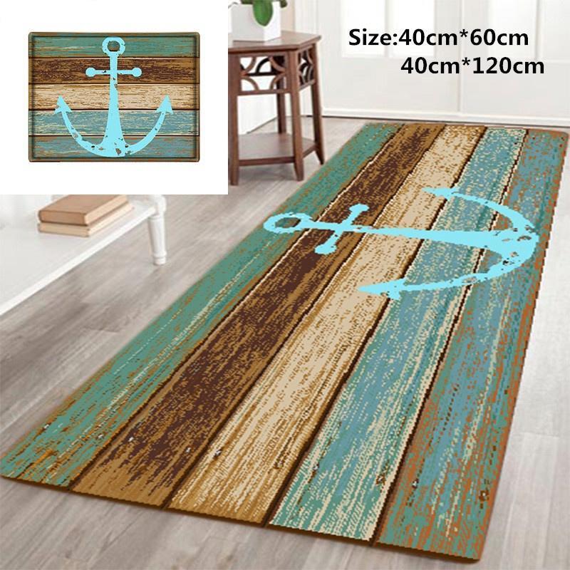 Ancla náutica rústico de madera-3D de alfombras alfombra de baño ...