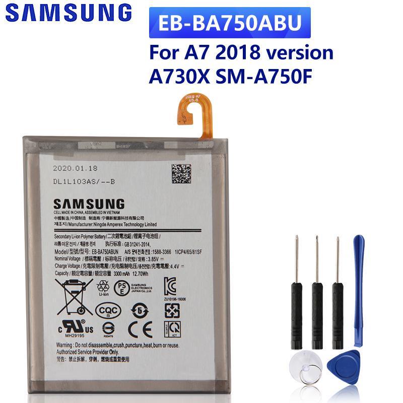 2018 EB-BA750ABU // 3300mAh Bateria Interna Compatible con Samsung Galaxy A7 + Kit Herramientas