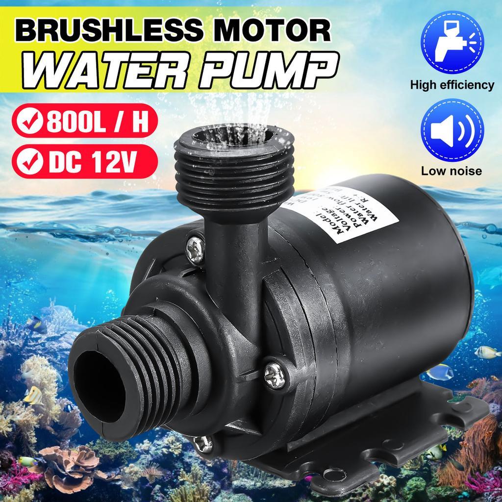 DC12V Solar Brushless Motor Submersibles Water Circulation Pump 800L//H 5m