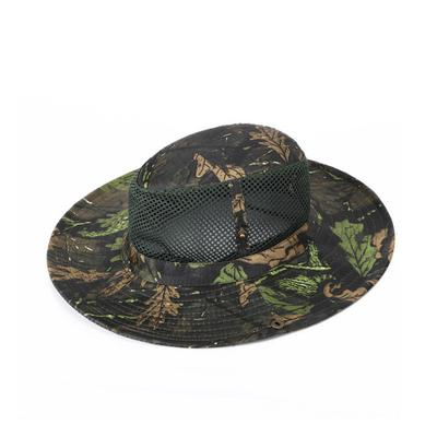 47ff659b2ea Fishing Hat Camouflage Outdoor Sunscreen Cap Wide Brim Protection Camping  Hiking