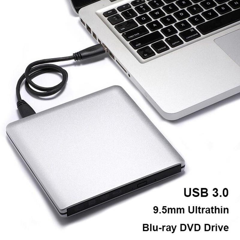 Traioy USB 3.0 Bluray Drive BD-RW Burner Writer CD//DVD ROM Optical Drive External Blu ray Player for hp Laptop Computer Apple,Black