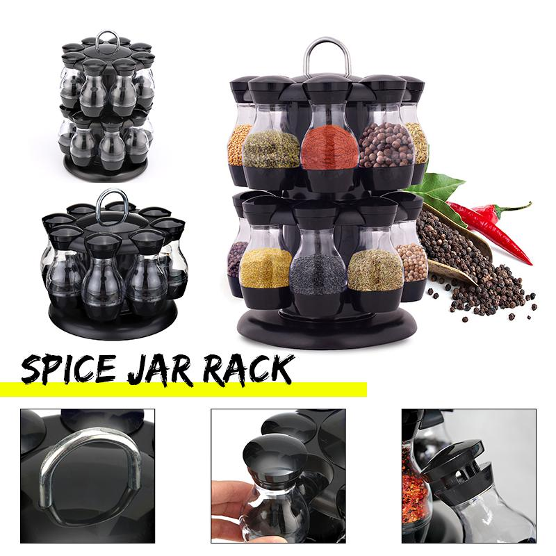 Кухня Гаджеты Spice Бутылка Приправы Box Кухня Перец Перец Шейкеры нержавеющей стали 16 Spice Хранения Коробки Коробки Соль Перец Тмин Powder Holder фото