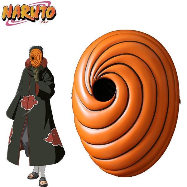 Details about  /Naruto Akatsuki Tobi Uchiha Obito Costume Resin Mask For Prop Cosplay Halloween
