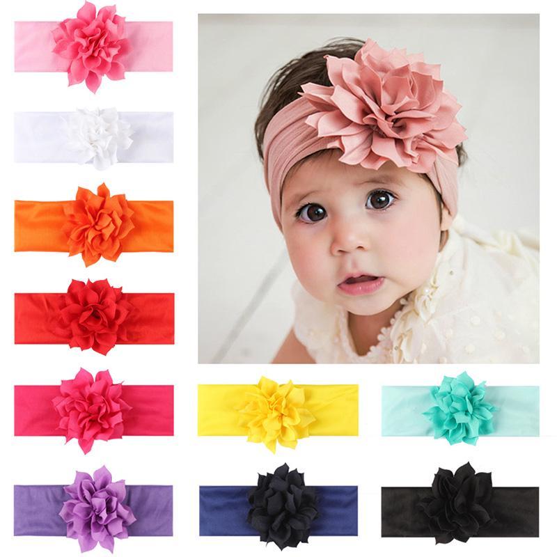 Mini Flower Baby Headband Newborn Imitation Pearls Girls Hairband Turban Gift