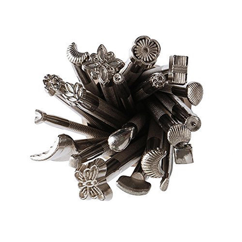 Fogood Hot 20pcs DIY Leather Working Saddle Making Tools for Leather Craft Working Silver