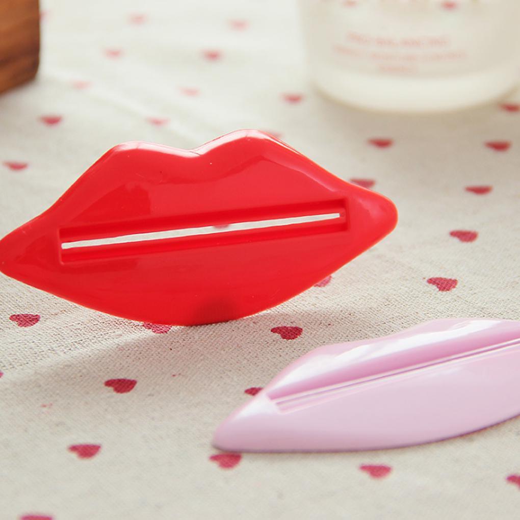 2pcs Toothpaste tube squeezer dispenser fashion lips Squeeze Tube Squeezer Easy