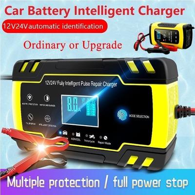 12V//24V Automatic Electronic Car Battery Charger Fast//Trickle//Pulse Modes 8 AMP