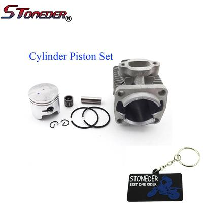 STONEDER 40mm Cylinder Head 10mm Piston Kit Pin Bearing Rings For 2 Stroke  Kids ATV Pocket Bike