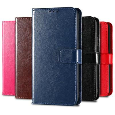 Leather Cases for OPPO A3s A53 A5 A9 A31 A93 2020 OPPO A1K Realme C3 C2 C11 C15 Cover for Vivo Y11 2019 V20 Wallet Card Slot Phone Bumper