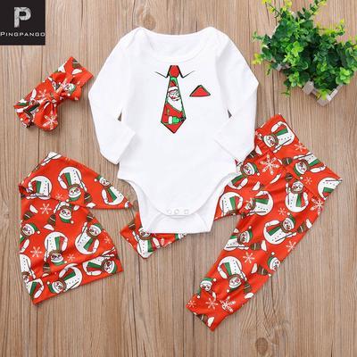e7c397e30 Bebé recién nacido Niño Navidad corbata muñeco de nieve mameluco + ...