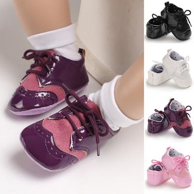 Newborn Infant Baby Girl Boys Frenulum Canvas Shoes Sneaker Anti-slip Shoes