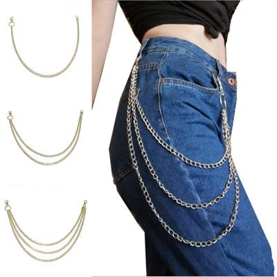 Trousers Layer Jean for Hip Wallet Pants Chain Punk Gothic 1//2//3 Hop