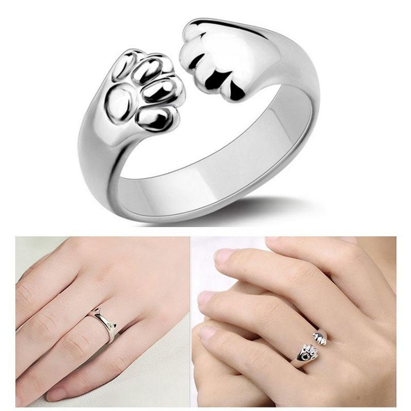 Animal silver ring for women Adjustable silver ring for animal lovers Open adjustable sterling silver ring Wrap around fox ring for girls