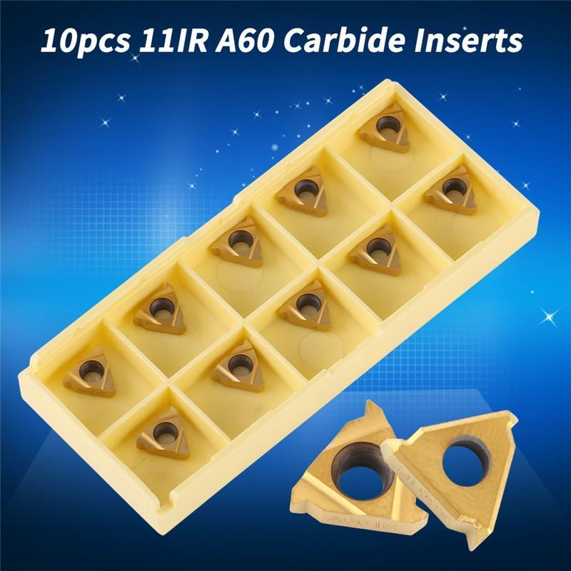 10Pcs 1//4/'/' 11ER A60 Carbide Inserts For Lathe CNC Blade Cutting Turning Tool