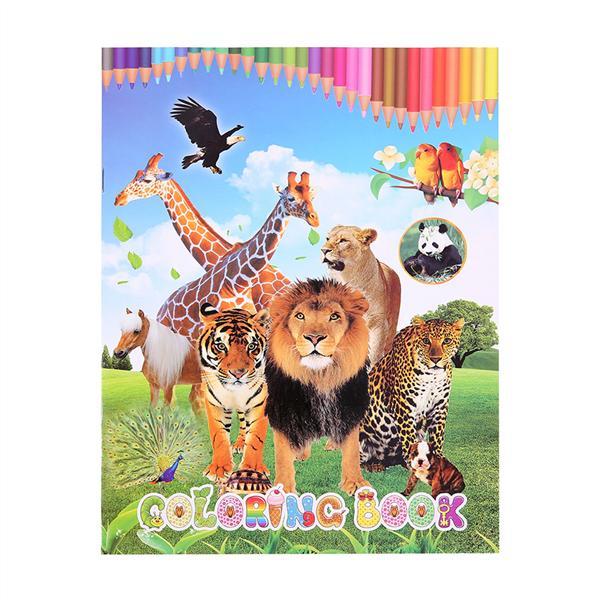 1 Adet Hayvan Boyama Kitabı Ingilizce Eğitim çocuk Kitapları Okul